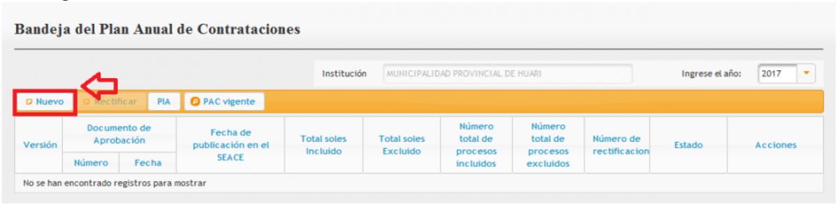 Plan Anual de Contrataciones | Organismo Supervisor de las ...